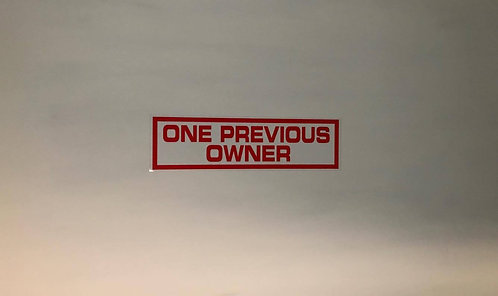 One Previous Owner 10x Self Cling Car Sales Window Reusable Display Stickers