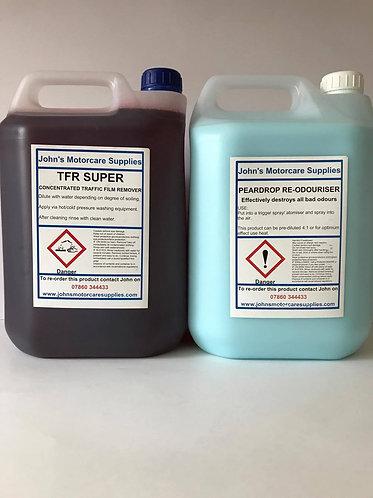 Pear Drop Air Freshener 5L & TFR Traffic Film Remover 5L