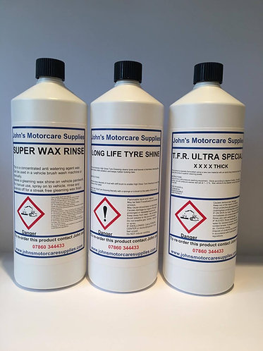 Super Wax Rinse, Tyre Dressing & TFR
