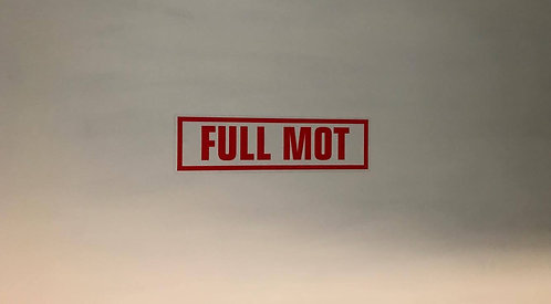 Full M.O.T Pack Of 10 Self Cling Car Sales Window Reusable Display Stickers