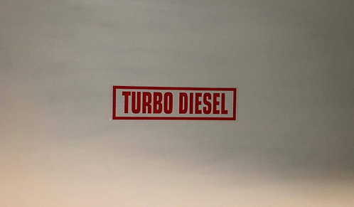 Turbo Diesel Pack Of 10 Self Cling Car Sales Window Reusable Display Stickers