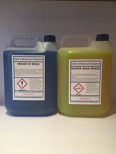 Super Wax Rinse 5 Litres & Wash & Wax 5 Litres