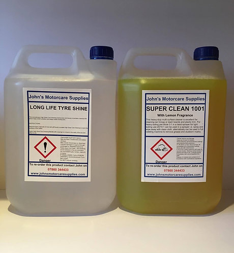 Tyre Dressing 5L & Hard Surface Cleaner 5L