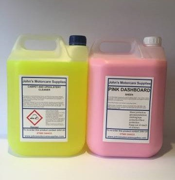 Pink Dashboard Sheen 5L & Carpet Shampoo 5L