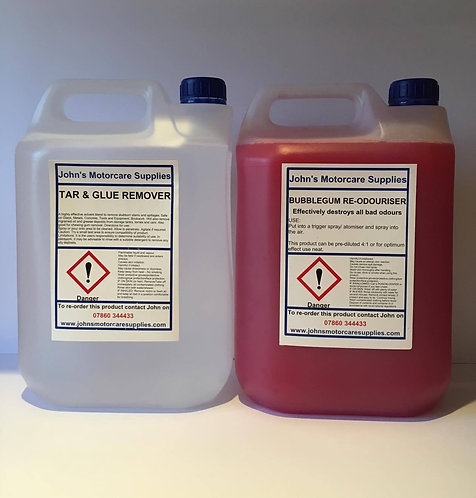 Car Air Freshener Bubblegum 5 Litres & Tar and Glue Remover 5L