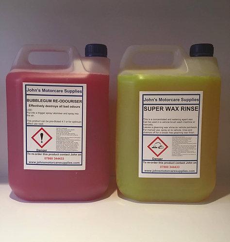 Car Air Freshener 5L & Car Wax Rinse Aid 5L