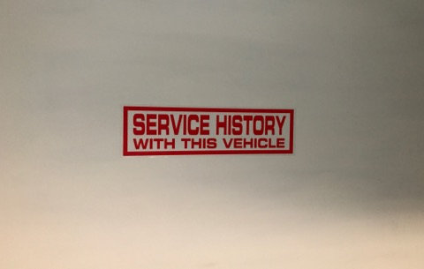 Service History With This Vehicle 10x Self Cling Car Window Reusable Stickers