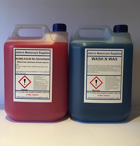 Car Air Freshener Bubblegum 5L & Wash and Wax 5L