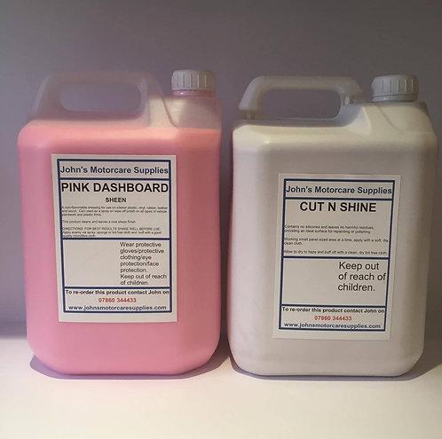 Pink Dashboard Sheen 5L & Cut and Shine 5L