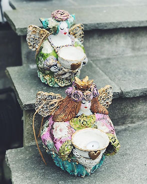 Keramikkengler av Karin Elisabeth Øvsted