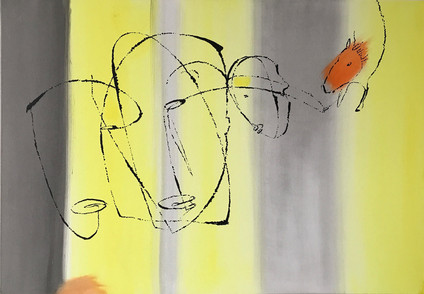 Vi som elsker hester 70x100 maleri/olje