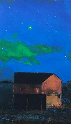 Stjernenatt, 52,5x30,8 cm