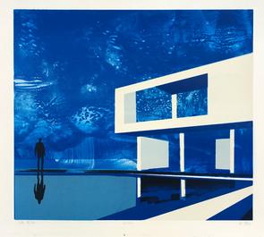 Ocean 55x65 litografi