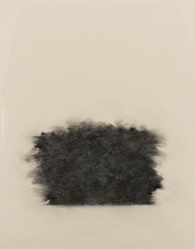 Trær 104x85 cm kull på papir