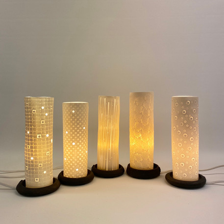Sylindriske bordlamper