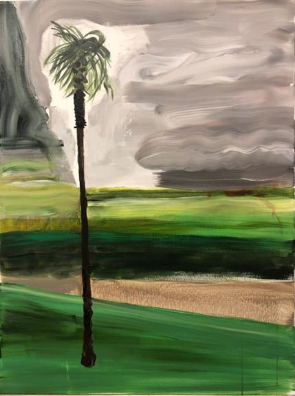 Palmen, akryl på lerret, 80x60 cm