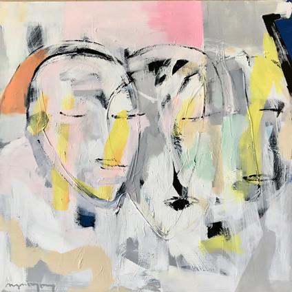 Alle våre drømmer 100x100 maleri/akryl