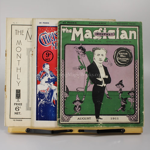 The Magician Monthly, 3 issues 1911, 1923 and 1937.