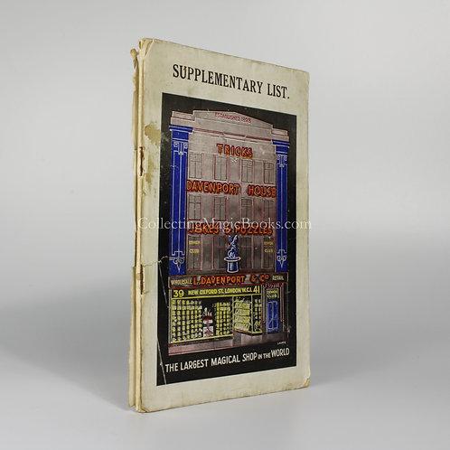 Davenport's Demon Series Supplementary List Catalogue