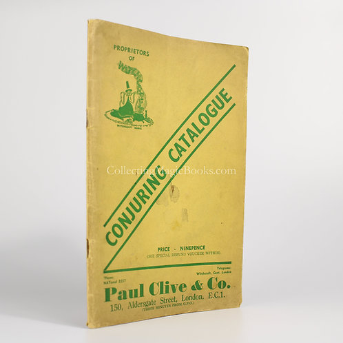 Paul Clive & Co. Conjuring Catalogue, 1939