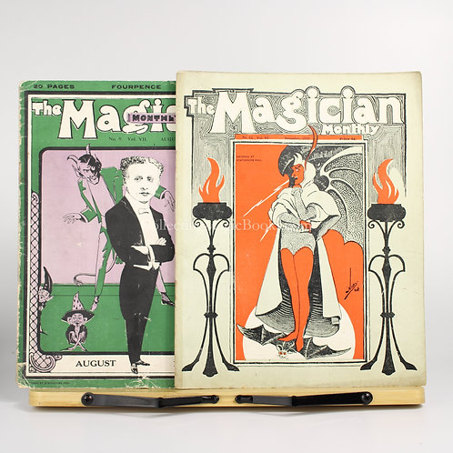 The Magician Monthly, 2 Issues, 1910-1911 - Will Goldston
