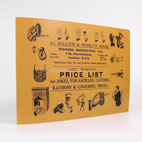 Richard Bercovitch, Ltd. Joke Catalogue - Richard Bercovitch