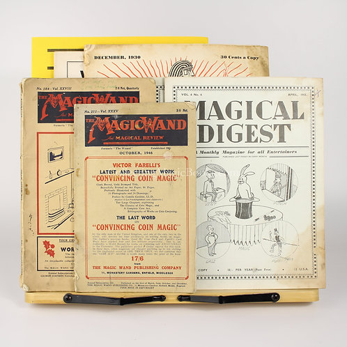 Mixed lot of six magic magazines from 1930 to 1955