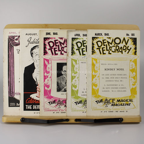 The Demon Telegraph, 5 issues, 1948-49