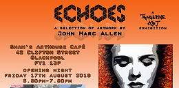 Echoes Press exhibition poster