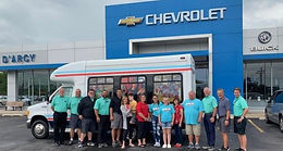 D'Arcy Chevy Buick donates van