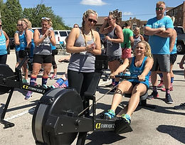 CrossFit teams row for charity