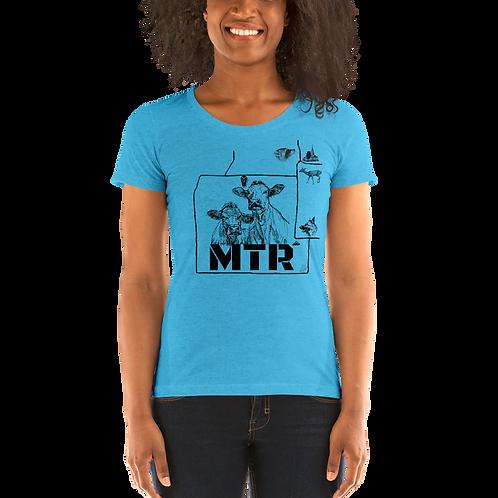 MTR Bella + Canvas: Super Soft Triblend Ladies' Shirt (Runs Small)