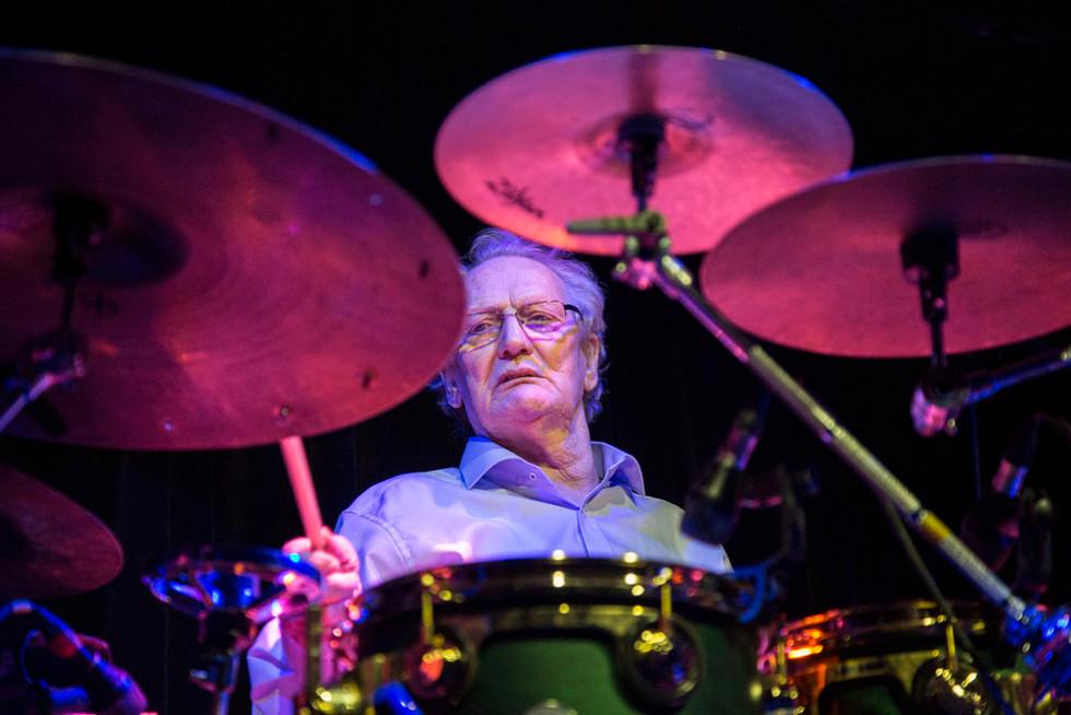 The legendary drummer Ginger Baker at the Jazz Cafe in Camden