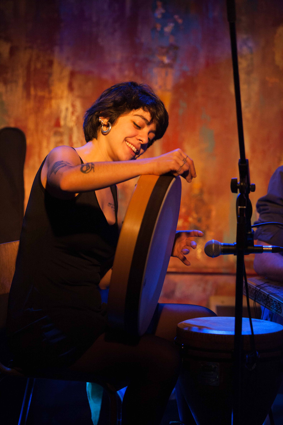 Greek Tamburin player
