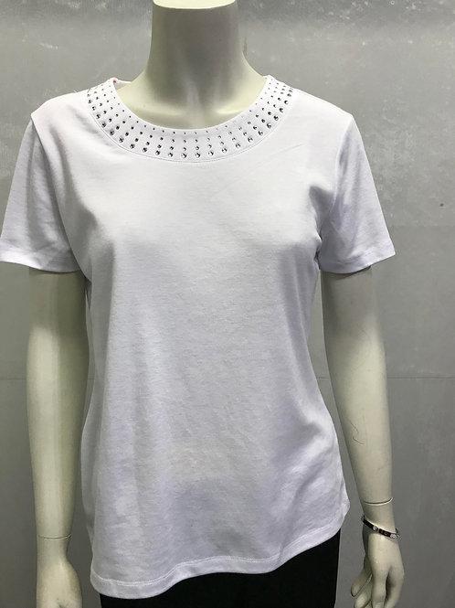 T Shirt with Delmonte effect neck design