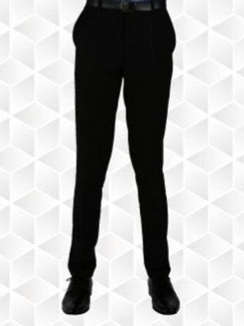 Silver Label Slim Fit Boys Black Trousers with belt included