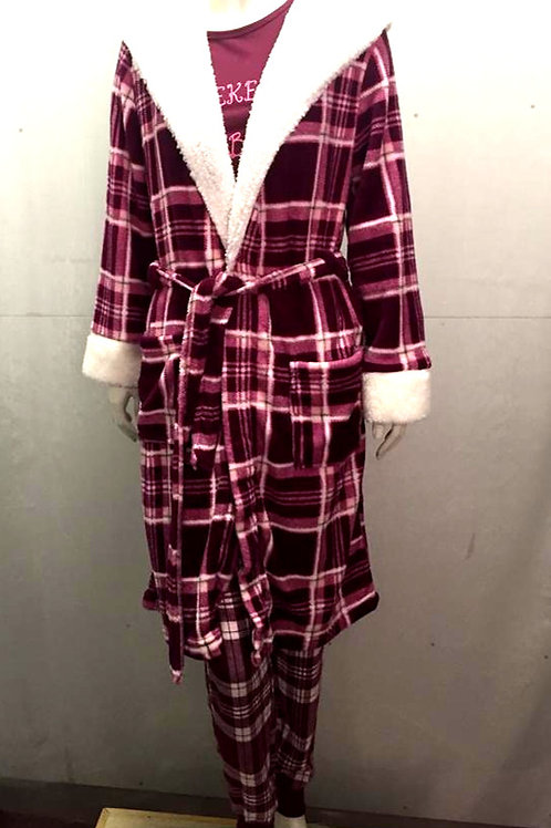 Ladies Fleece Dressing Gown