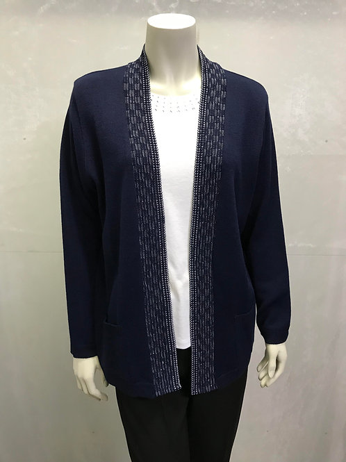 Basket Trim 2 Pocket Cardigan