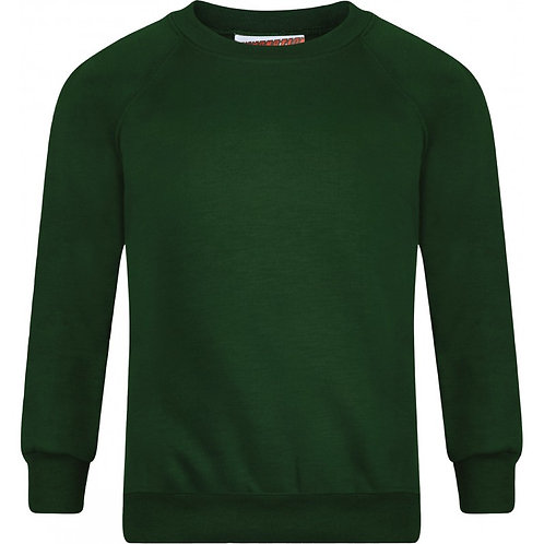 R/Neck ST GILES Sweatshirt - Includes Logo (Bottle Green)