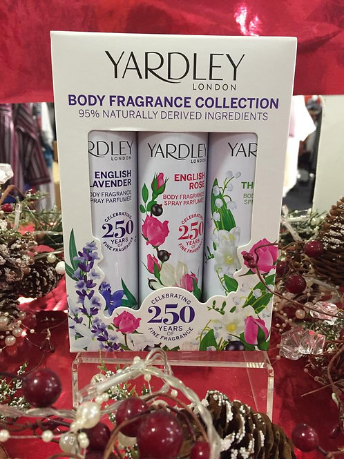 YARDLEY - Body Spray Fragrance Gift Set
