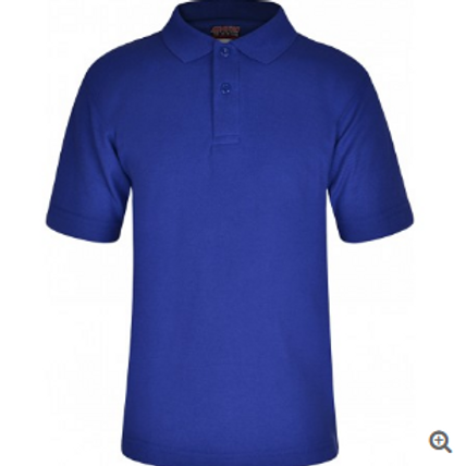 Clearance Polo Shirt - Royal with embroidery logo