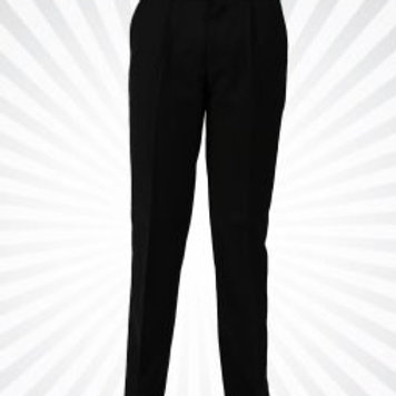 Yellow Label - Regular Fit Black Trousers with belt included