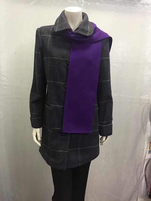 AUTONOMY -wool bland coat with Scarf