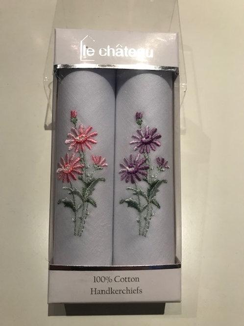 LE CHATEAU - 100% Cotton Handkerchiefs