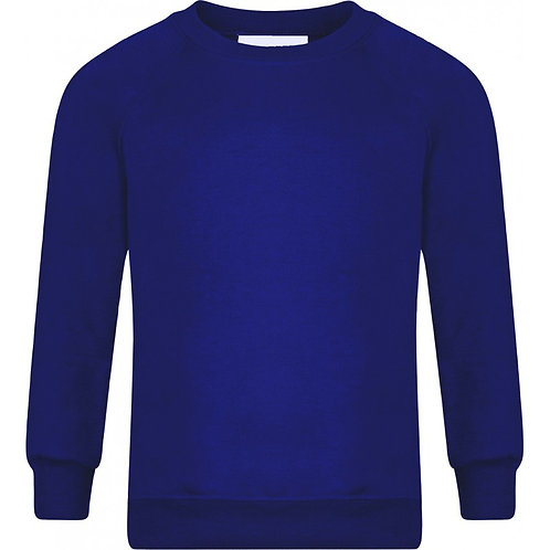 HOLY TRINITY R/Neck Sweatshirt - Includes Logo (Royal Blue)