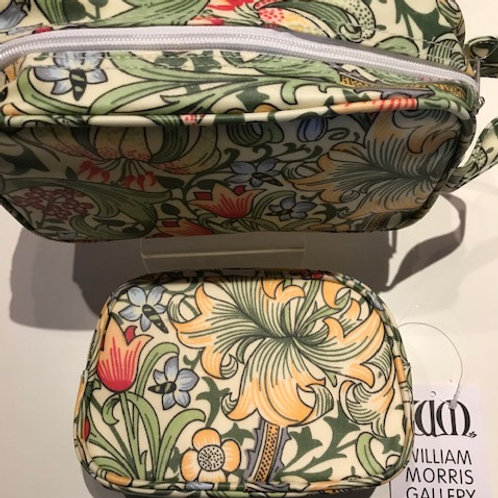 WILLIAM MORRIS-FULLY LICENSED labelled GOLDEN LILY Cosmetic Bags