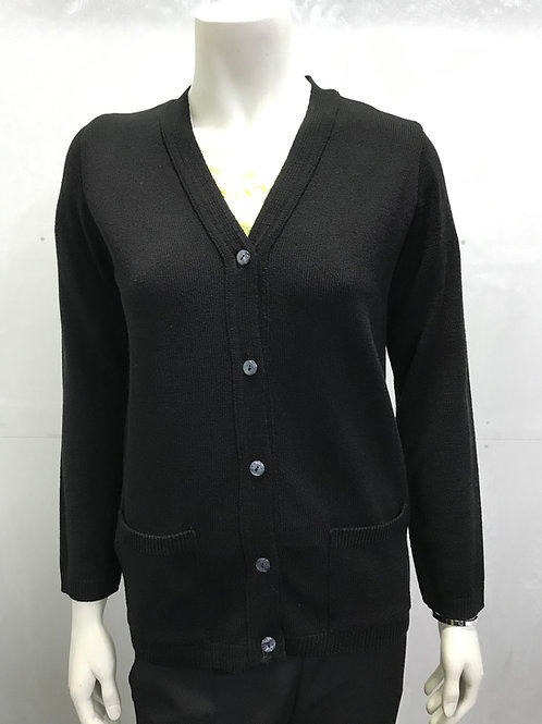 Classic V Neck Button Cardigan with 2 Pockets
