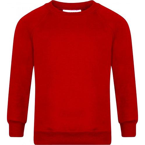 De Vere Primary School R/Neck Sweatshirt Red - Includes Logo