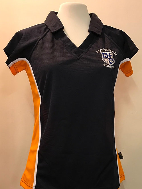 NEW - FITTED GIRLS SPORTS POLO (SHORT SLEEVE) WITH LOGO EMBROIDERY INCLUDED