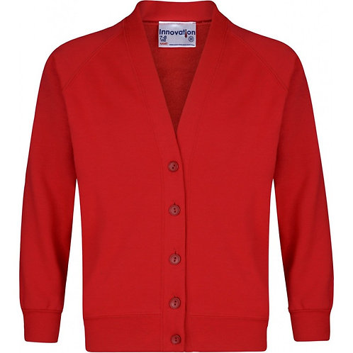 De Vere Primary School Sweatshirt Cardigans Red - Includes Logo